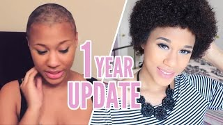 Shaving My Head | 1 Year Big Chop Update