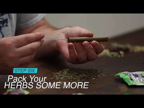 Hemp Wraps Rolled with Herbal Blends - A How To Video