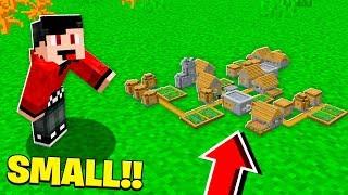 BUILDING The SMALLEST VILLAGE in MINECRAFT!
