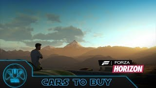Forza Horizon - Cars To Buy in Game