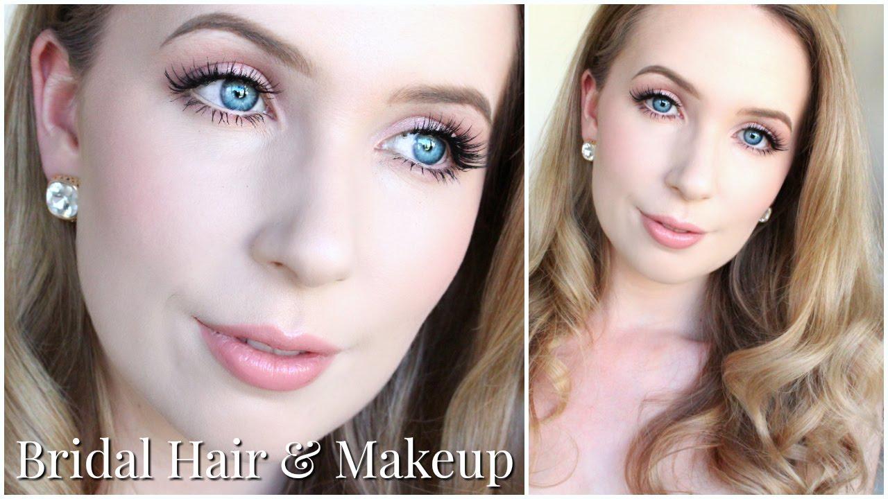 bridal hair & makeup for very pale skin & blue eyes