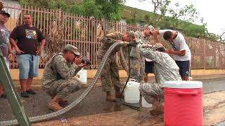 Puerto Rico National Guard Distributes Water in Morovis