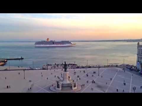 MV Arcadia departure from Lisbon Port