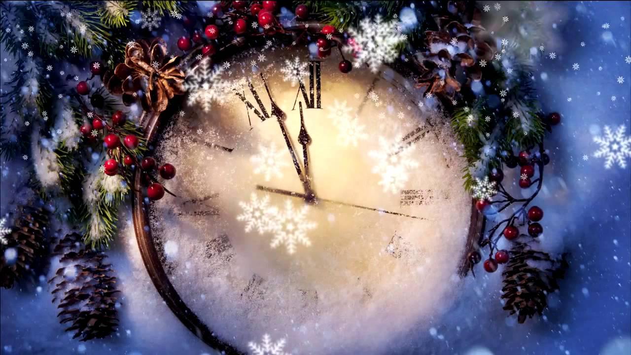 к новому году часы