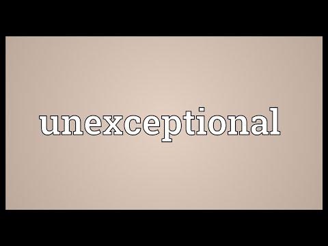 Header of unexceptional