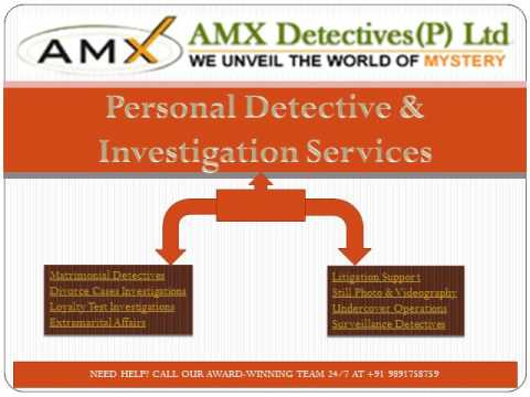 Professional Private Detective Agency in Delhi, India   AMX Detectives