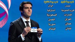 قرعة الدور الحاسم الافتراضية بتصفيات اسيا لكاس العالم | جدول مباريات العراق بالدور الحاسم 2022