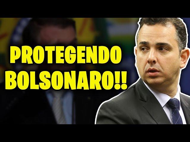 PRESIDENTE DO SENADO BLINDA BOLSONARO