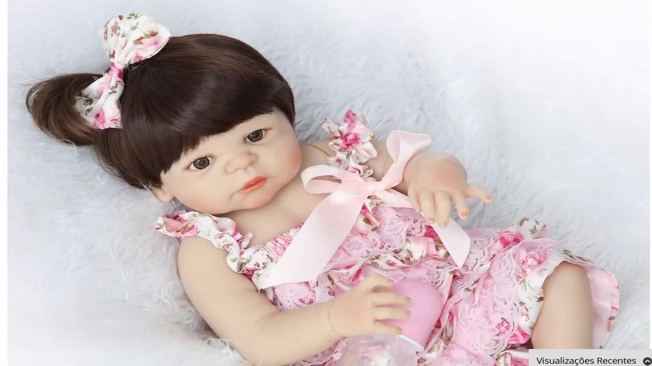 Bebe Reborn Menina 100% Silicone - YouTube 1ebcb30a46a