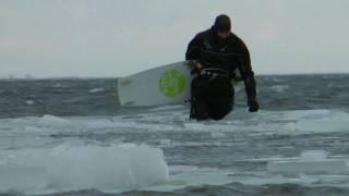 Winter storm,  HEROES, kiteboard - Jastarnia, Draga - 2011.02.05