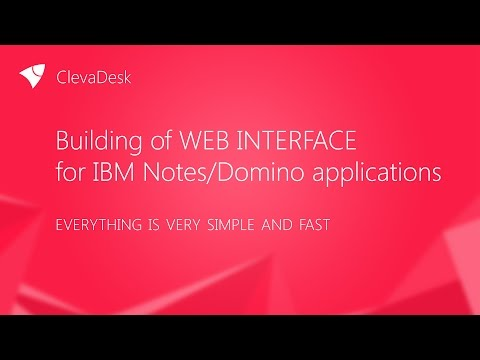 Building of web interface  for IBM Notes/Domino applications