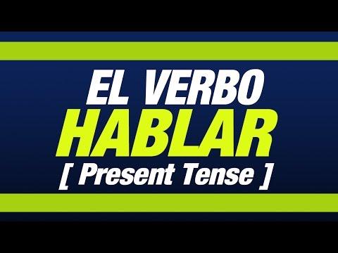 El verbo HABLAR presente