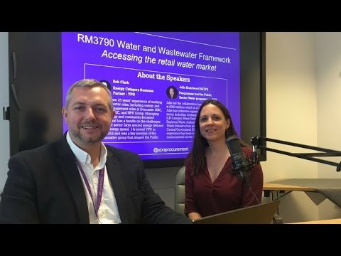 RM3790 Water and Wastewater Framework Webinar