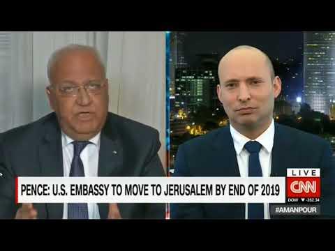 Bennett-Erekat debate with Christian Amanpour on CNN