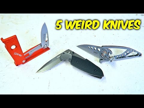 5 Weird Folding Knives on Amazon