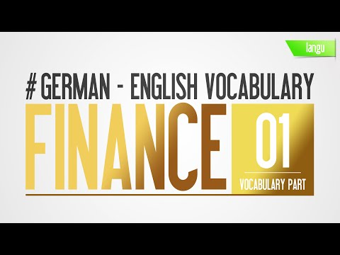 Finance vocabulary - HD audio language lesson for beginner - learn german english part 1