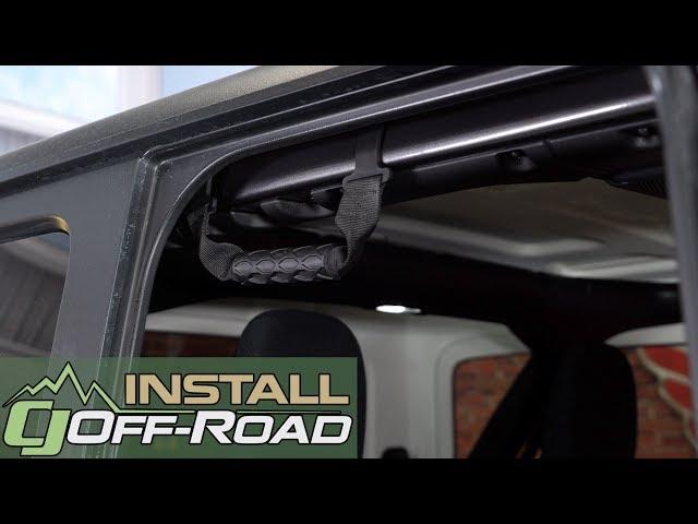 2007-2018 Jeep Wrangler JK Front /& Rear Roll Bar Grab Handle Set of 4 Mopar OEM