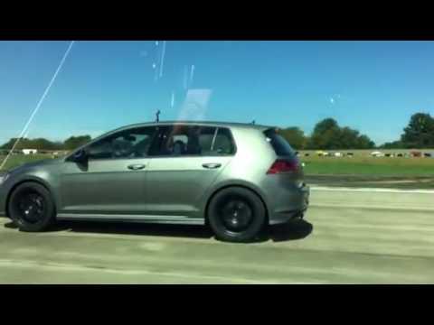Golf R dsg vs Golf R manual- 1/2 mile 40 roll