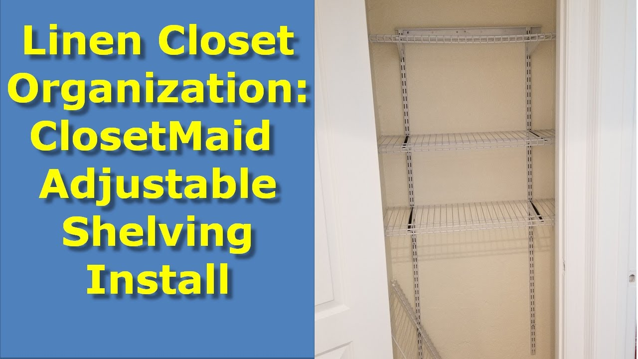 DIY Linen Closet Organization Ideas: Installing Adjustable Shelving