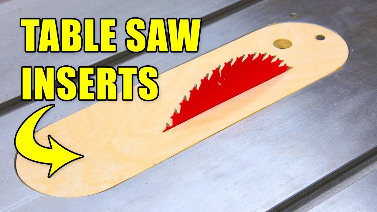 Making Table Saw Inserts Throat Plates Dado Zero Clearance Inserts Youtube