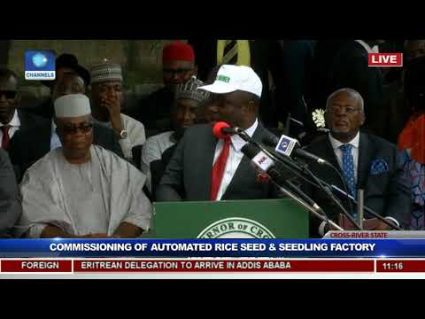 President Buhari Commissions Rice Seedling Factory In Calabar Pt.3