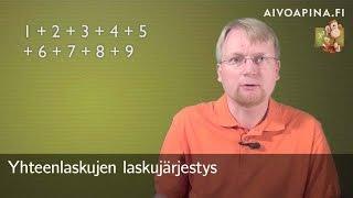 Yhteenlaskujen laskujärjestys