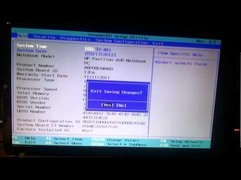 HP Dv6 Ustawienia BIOS, Przełączanie kart graficznych, sterowniki