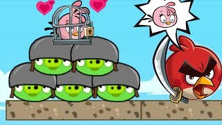 Angry Birds Heroic Rescue - BEATING ALL BAD PIGGIES! RESCUE STELLA!