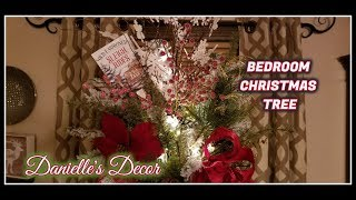 Bedroom Christmas Tree Natural Style and Colors