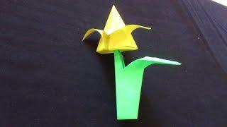 Cara Membuat Origami Bunga Tulip dan Daunnya | Origami Bunga dan Tanaman