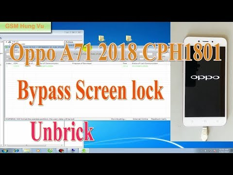Oppo cph1801 User Lock Reset By MsmDownloadTool - Mobile