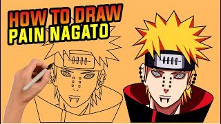 How to draw pain nagato  step by step , easy  drawing tutorial