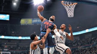 NBA Live 18 Gameplay | Oklahoma City Thunder vs San Antonio Spurs (Game Update - Statement Unis