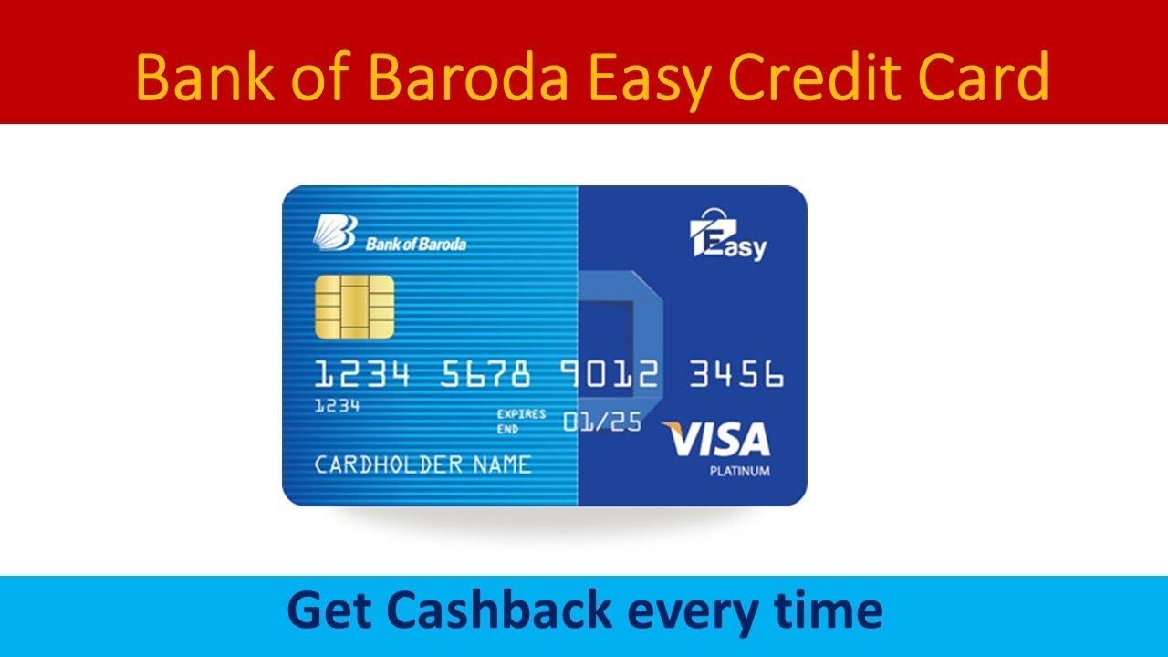 bank of baroda easy credit card full details  youtube