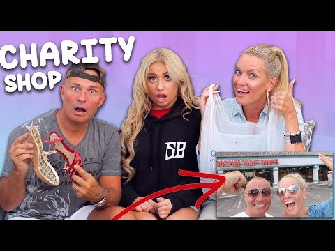 MUM VS DAD $25 THRIFT STORE ( charity shop ) OUTFIT CHALLENGE!! 😱😬