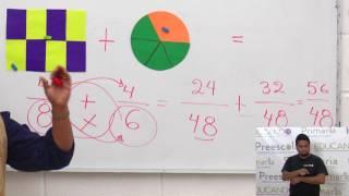 Primaria 3º y 4º clase: 123 Tema: Suma de fracciones