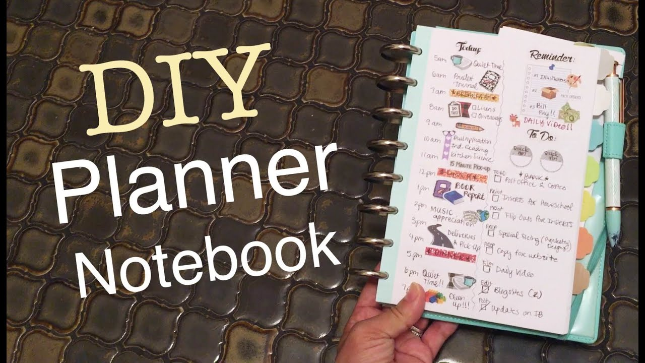 Tutorial: How to make a Notebook into a Personal Planner for Functional  Planning Peace