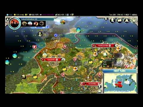 """Civilization 5: Gods & Kings - Canada ep. 24 """"Uncovering The Globe"""""""