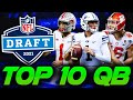 Ranking the TOP 10 QBs in the 2021 NFL Draft