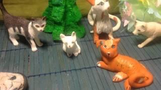 Мои коты воители из массы (FIMO)