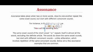 Assonance | What is Assonance? Figure of Speech | Literary Terms
