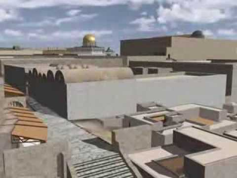 A Virtual Reconstruction model of the Umayyad period buildings outside the Temple Mount