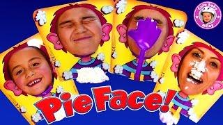 PIE FACE ! Challenge - Wir spielen das lustige Spiel mit Schlagsahne - Kinderkanal