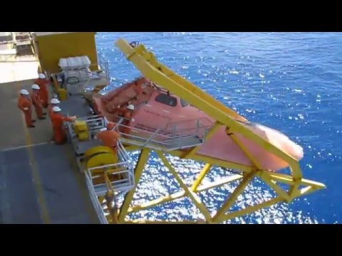 Lifeboat release - Annual drill (an O&G platform offshore VN)