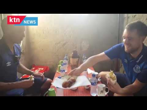 Everton Team arrives in Tanzania, takes breakfast in a Kibanda