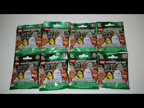 Lego Series 11 Minifigures Opening Eight Blind Bags Youtube