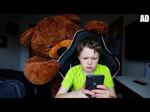 GIANT TEDDY BEAR PRANK ON LITTLE BROTHER!