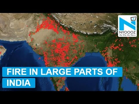 Alarming NASA images show large parts of India dotted with fires
