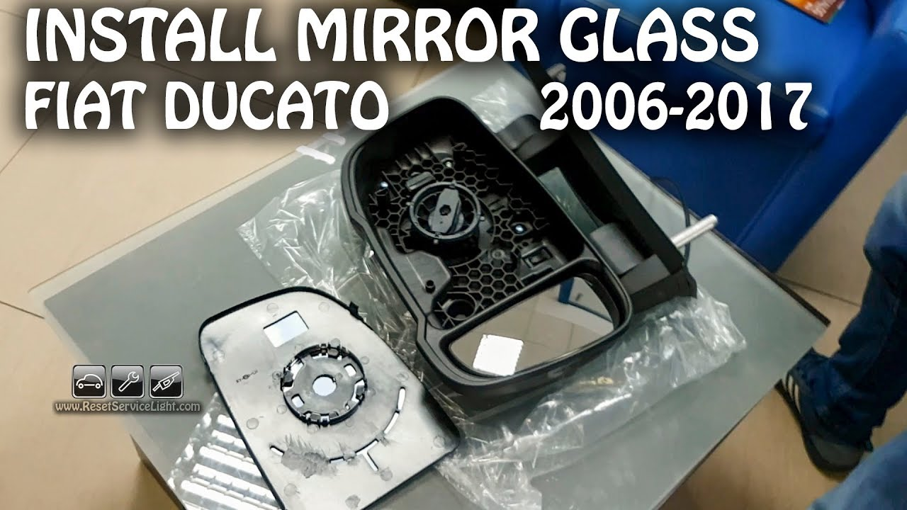 mount install side view mirror glass only fiat ducato 2006 2017 [ 1280 x 720 Pixel ]