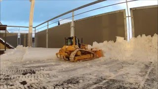 cat d6n lgp pushing some snow